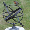 12in brass armillary, modern and locally made