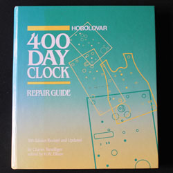 The bible on repairing 400 day anniversary clocks by Charles Terwilliger, published by Horolovar