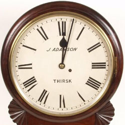 A drop dial clock by J Adamson. Or is it a fake?