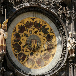 Prague's orloj, lower dial
