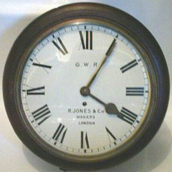 Fake fusee dial clock often feature a railway connection