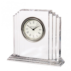 An example of a glass clock with insertion movement fitted